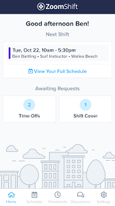Employee Shift Schedule App Work Schedule App And Time Clock Zoomshift