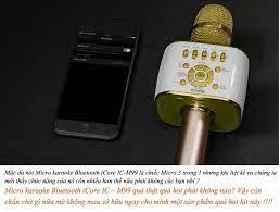 Micro kèm loa Bluetooth iCore IC-M99. Karaoke, thu âm bài hát, livestream,  đổi giọng, ngắt lời ca sỹ - Hàng phân phối chính hãng
