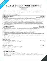 Audition Resume Format Magnificent Dance Audition Resume Lidazayiflama