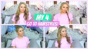 Easy Hairstyles On The Go My 4 Go To Easy Hairstyles Youtube