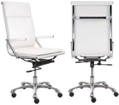 white modern office chair white rolling. Zuo Modern 215232 Lider Plus High Back Office Chair, White; With Its Ergonomic Shape, Padded And Seat Cushions, Works In Comfort; Has A Chromed Steel White Chair Rolling