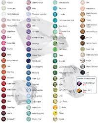 Swarovski Crystal Colour Chart
