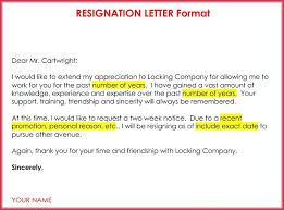 Resignation Letter Samples With Reason Resigning Letter Example Dew Drops