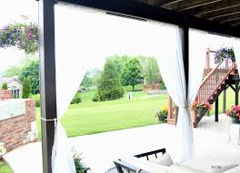 how to create outdoor oasis diy under deck outdoor curtains white mesh curtain panels