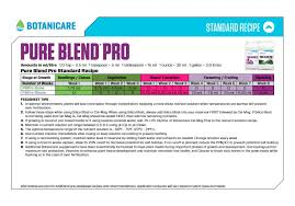 Botanicare Feeding Chart For Soil Botanicare Pure Blend Pro Bloom