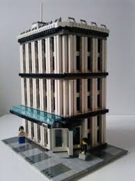 lego office building. Modular Buildings: Office Building: A LEGO® Creation By Dede Winters : MOCpages.com Lego Building G