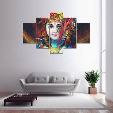 5 panel lord ganesha canvas print painting home decoration wall art picture on ganesh canvas wall art with 5 panel lord ganesha canvas print painting home decoration wall art