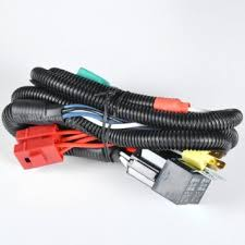 cheap headlight wiring harness headlight wiring harness auto wire harness · dual high low beam headlight relay wiring harness h4 9003 high heat ceramic plugs