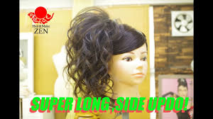 長くて多い髪の盛り髪サイドアップ Zenのヘアセット70 Youtube