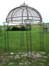 wrought iron gazebo for wrought iron round flower arbor garden gazebo trellis pergola arch wrought iron gazebo