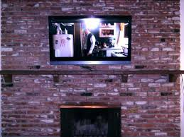 hang tv on brick wall mount on brick plasma mounted over brick fireplace mount solid brick
