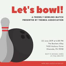 Bowling Invitation Awesome Orange Yellow Pin And Ball Bowling Invitation Templates By Canva