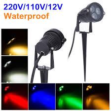 220v 110v outdoor led garden lawn light 9w landscape lamp spike waterproof 12v path bulb warm