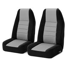 rugged ridge neoprene 1st row black gray seat covers