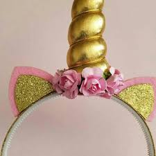 Horn Decorative Accessories 100 Pcs Gold Unicorn Headband Costume Kids Girls Unicorn Horn 76