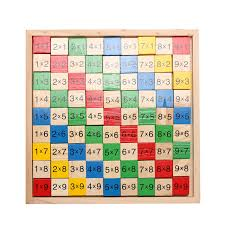 Wooden Math Games Kids Wooden Math Dominoes Block Toy Double Side Mathematical 59
