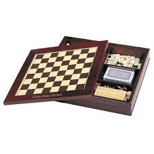 Classic Wooden Board Games 10000in100 Classic Wooden Game Set Chess Backgammon and More 67