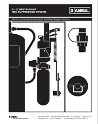 Ansul R 102 Nozzle Chart Details About Ansul R102 Restaurant Fire System Design Installation Maintenance Manual