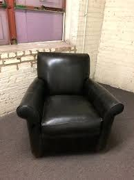 genuine leather club chair and ottoman