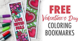 Free Printable Valentines Day Coloring Bookmarks