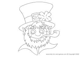 * * * * leprechaun coloring page. Leprechaun Coloring Pages Kids Games Central
