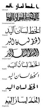 Arabic Calligraphy Style Chart In 2019 Calligraphy Tattoo