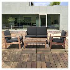 wood patio furniture with cushions. Fine Wood Eucalyptus Outdoor Furniture Beach Wood Patio Set With Black  Cushions Brown 4 Garden Uk Throughout U