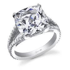 glamorous cushion cut diamond engagement ring diamond engagement