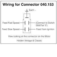 wiring diagrams for classic car parts from holden vintage connector kit for lucas wiper motor
