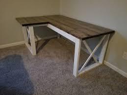 l shaped desk plans. Fine Plans Plan L Shaped Double X DeskPhoto Credit David In Desk Plans Handmade Haven