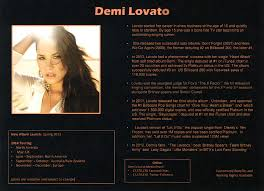 One Pager Mock Demi Lovato
