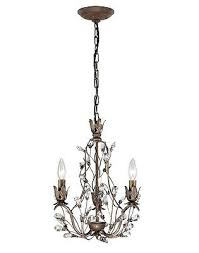 french vintage chic style mini chandelier 3 light sagemore collection