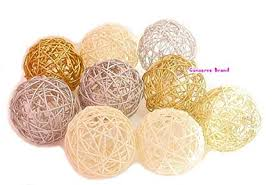 Wicker Balls For Decoration Enchanting Amazon Thailand's Gifts Gold Silver White Medium Rattan