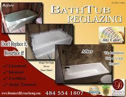 reglazing refinishing dont replace it resurface it in bethlehem bathtub restoration companies