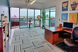 best carpet for home office. View In Gallery Home Office With Striped Carpet Tiles Best For U