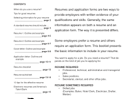 Easy Resume Format How To Write A Simple Resume