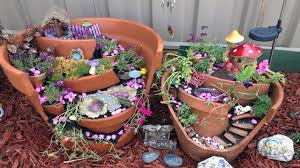 14 picture perfect fairy gardens made from broken flower pots