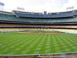 Dodger Stadium View From Left Field Pavilion 315 Vivid Seats