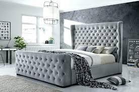 Twin Tufted Bed Grey Tufted Bed Bed Button Tufted Grey Velvet Grey ...