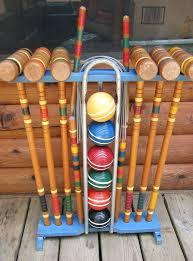 wood croquet sets oakley woods sport croquet set wood croquet sets
