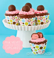 Cake Pop Topped Pink Velvet Cupcakes Love From The Oven