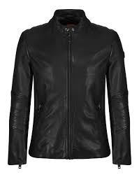 boss orange men s jeeper leather slim fit jacket black
