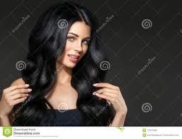Portrait De Femme De Beauté De Cheveux Noirs Beau Hai Bouclé