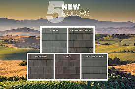 and energy efficient new and retrofit roofing systems is excited to introduce a collection of five new refined concrete roofing tile colors inspired by