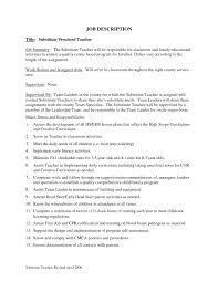 Teacher Job Description Template Resumes How To Make A Resume