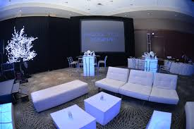 kool furniture. White Lounge Furniture From Kool Party Rentals And Black Draping PSAV Creates A Dramatic Feel