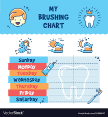 Child Incentive Chart Teeth Brushing Incentive Chart Child Dental