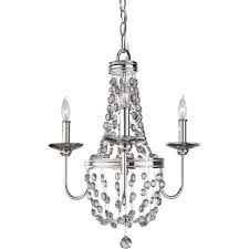 feiss malia 3 light polished nickel mini chandelier