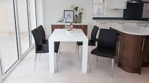 fern white gloss extending dining table and intended for designs 5