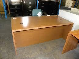 used hon double pedestal executive desk oak